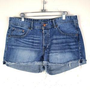 H & M Denim Boyfriend Shorts